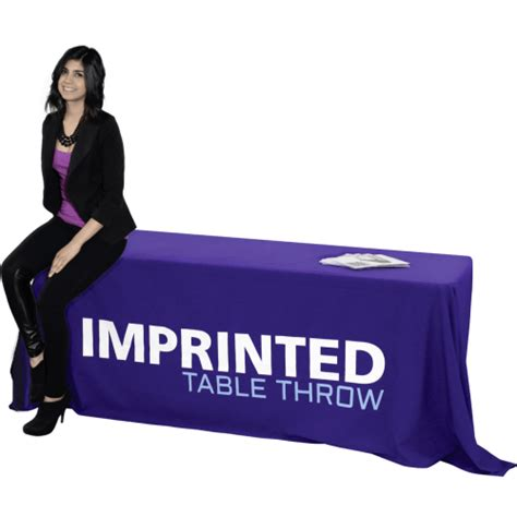 imprinted table throw  full booth design ideas
