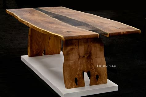 what is a live edge table hand crafted dining table live edge slab table with inset
