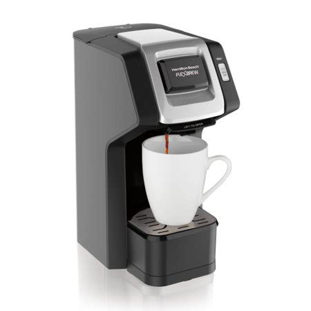 For added versatility, this coffee maker features an adjustable cup rest to accommodate coffee cups or 8 travel mugs. Hamilton Beach FlexBrew Single Serve Coffee Maker - Walmart.com