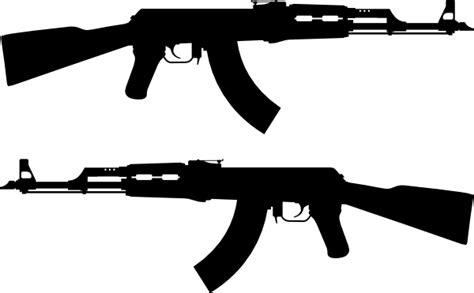 Ak 47 Clipart Ak Rifle Silhouette Clip At Clker Vector Clip