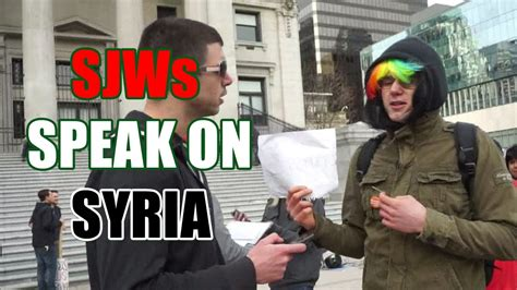 squatting slav tv syria protest qa triggered sjws