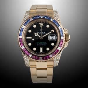 black studs earrings rolex pepsi gmt master ii yellow gold bespoke luxury concept