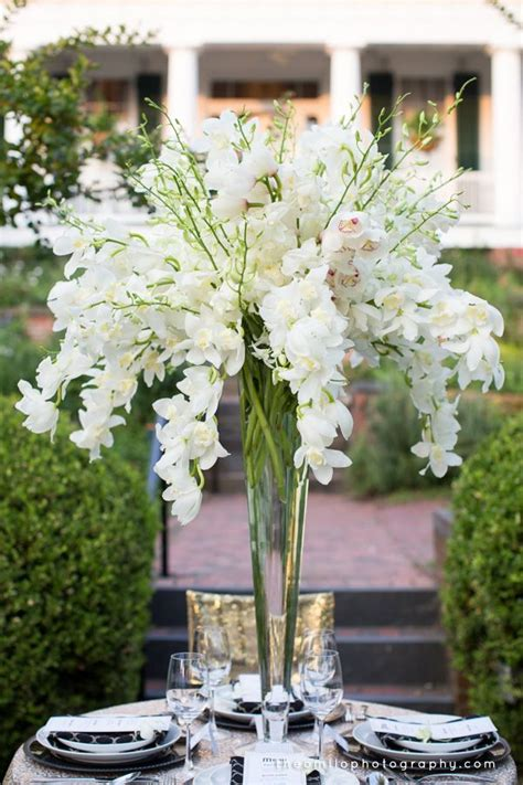 Orchid Centerpiece For Great Gatsby Themed Wedding Theo