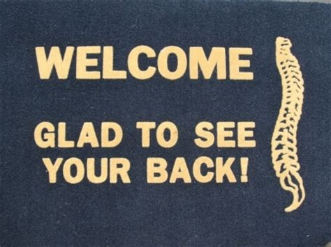 chiropractic glad     upright spine doormat