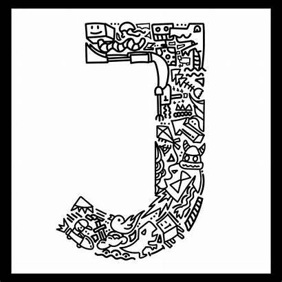 Letter Coloring Printable Letters Monogram Adult Alphabet