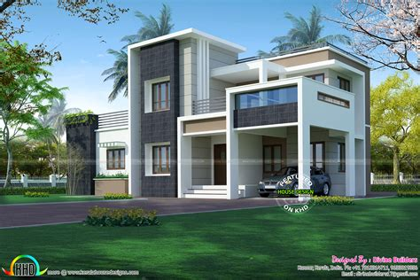 Home Design Box Type by 2276 Sq Ft 3 Bedroom Modern Box Style Architecture