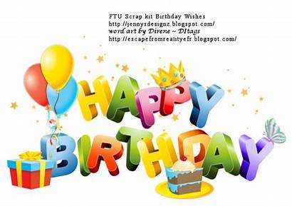 Birthday Anniversaire Happy Wishes Bithday Cluster Scrap