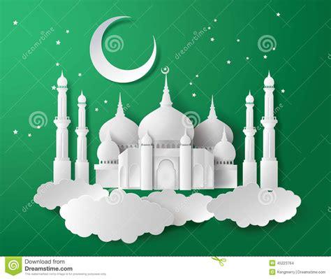 vector  paper mosque stock vector illustration