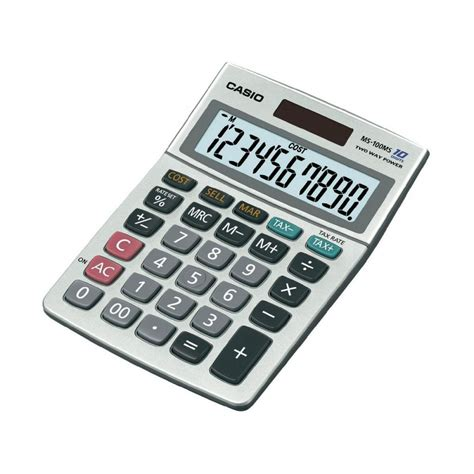 calculatrice bureau calculatrice de bureau casio ms 100 ms fournitures