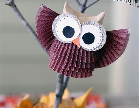 eulen basteln mit kindern bricolage pour enfants hiboux en rouleaux de papier vides