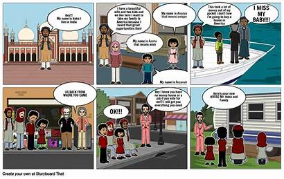 Comic Strip Immigration Assignment Storyboard Slide
