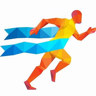 Silhouette Vector Runner Running Transparent Clip Clipart