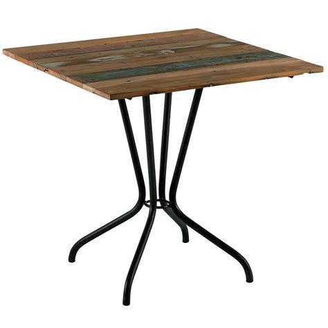 Table De Bistrot Table Bistrot Vintage En Vieux Bateaux Recycl 233 Une Invitation Au Voyage