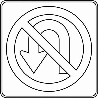 Sign Clipart Turn Outline Signs Road Left