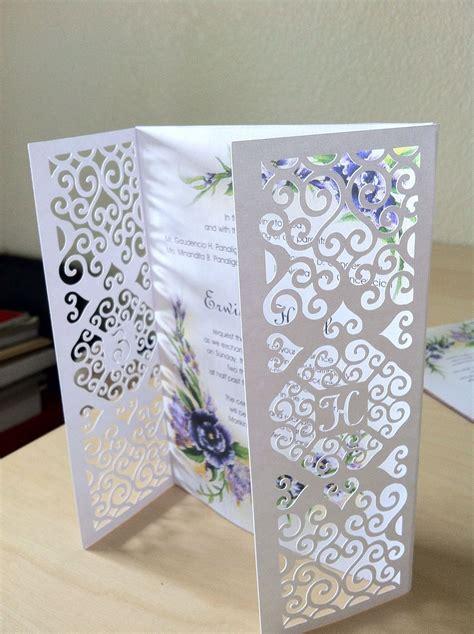 diy wedding invitation gatefold was designed and cut