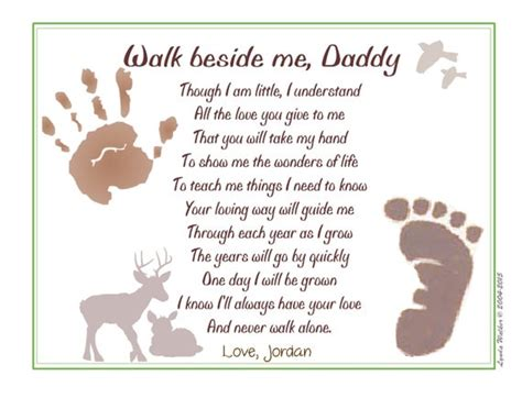 walk   daddyc poem baby child handprint footprint