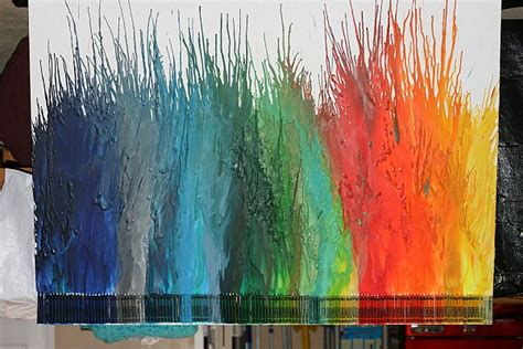 Melted Crayon Wall Art - Elitflat