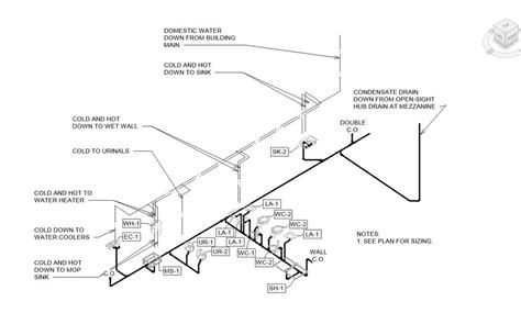 Plumbing Riser Diagram Example