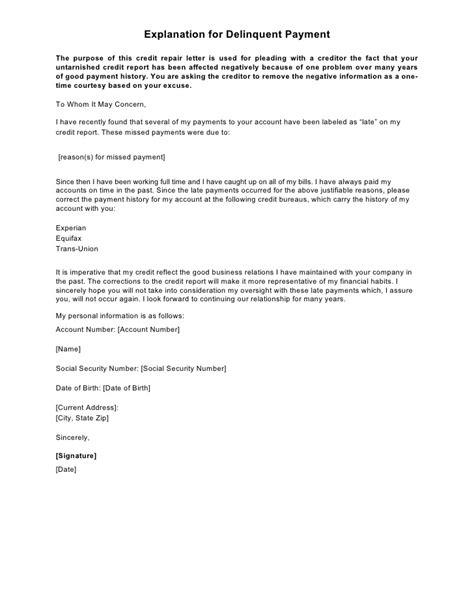 sample letter explanation sample business letter