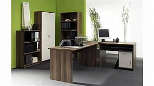 Büro Set Möbel : b ro office compact 5 teiliges set in walnuss und wei ~ Indierocktalk.com Haus und Dekorationen