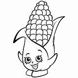Coloring Corn Shopkins Candy Cob Season Dibujos Corny Colorear Printable Template Colouring Pintar Shopkin Drawing Ausmalbilder Desenhos Exclusive Getdrawings Entitlementtrap sketch template