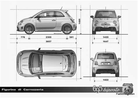 Fiat Dimensions by Fiat 500 Dimensions Inches Car Info