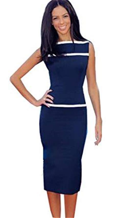 ilovesia kleid knielang kleider damen elegant ohne arm