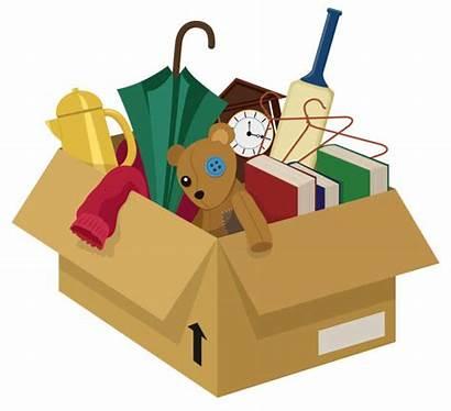 Box Junk Vector Items Household Clip Garage