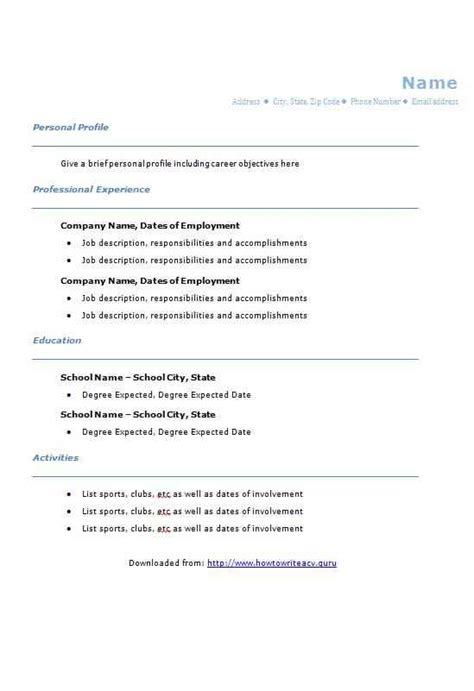 College Graduate Resume Template by Blue College Graduate Cv Template How To Write A Cv