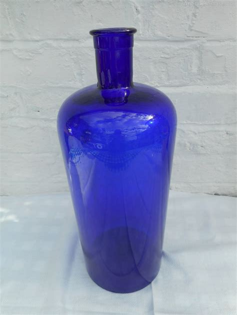 Antiques Atlas - Large Antique Cobalt Blue Bottle