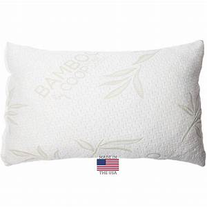 shredded memory foam pillow with bamboo cover by coop home With bamboo pillow in stores