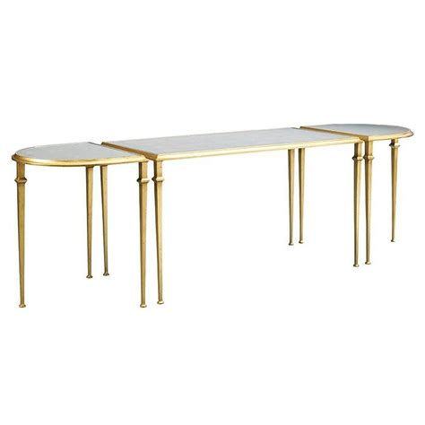 gold mirrored coffee table three piece gold mirrored demilune cocktail table