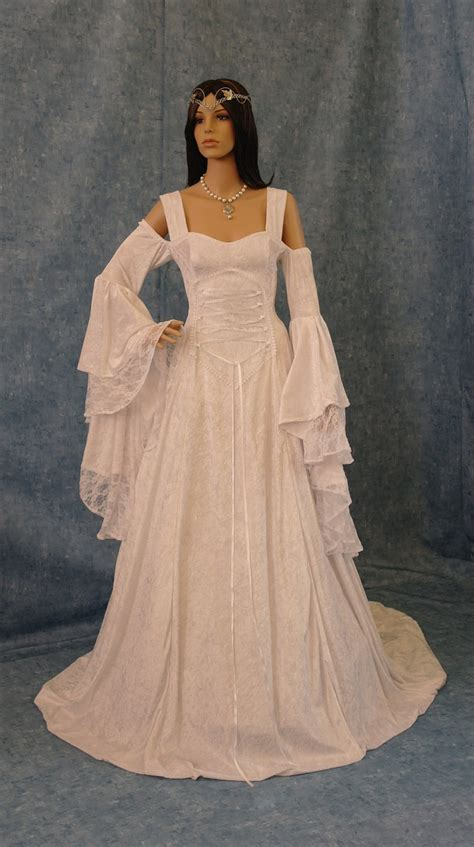 white robes for sale renaissance handfasting wedding dress by