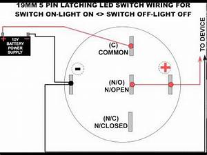 19mm led latching switch wiring diagram youtube With 4 pin switch wiring diagram
