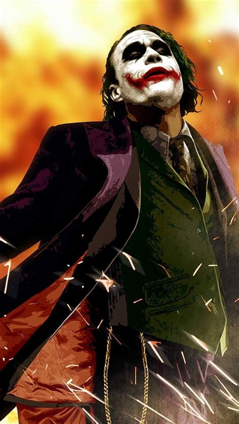 dark knight joker art iphone wallpaper iphone wallpapers