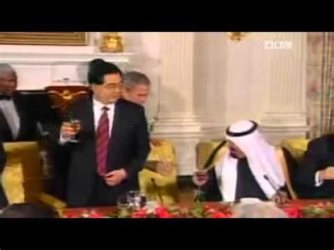 saudi arabia king abdullah drinking wine  bush