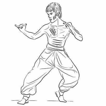 Bruce Lee Bekende Kleurplaat Acteur Kleurplaten Kungfu