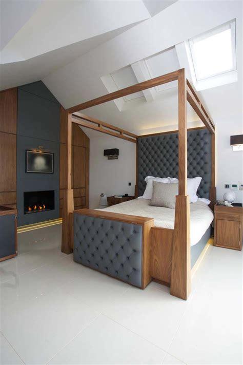 chambre avec lit baldaquin déco chambre à coucher au design créatif élégant et