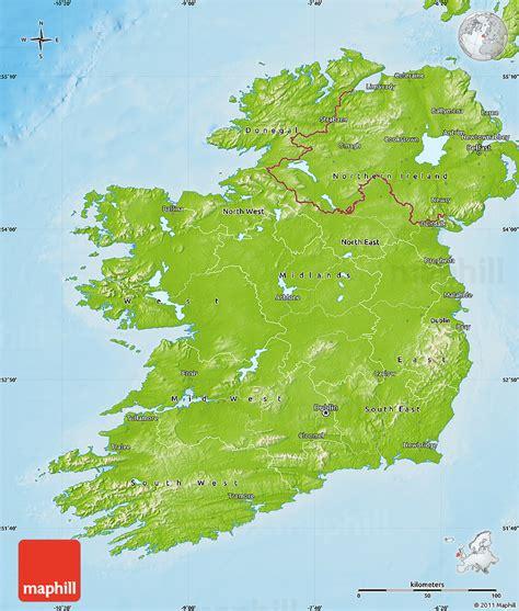 physical map  ireland