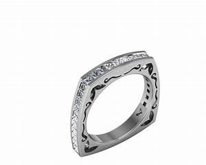 Square band diamond rings wedding promise diamond for Wedding band for square engagement ring