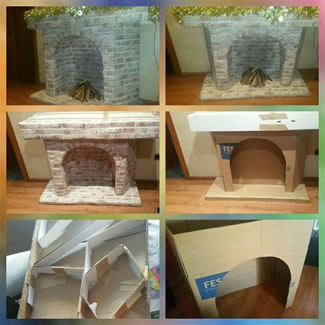 7 besten kamin aus karton bauen bilder auf basteln weihnachten falshes kamin und