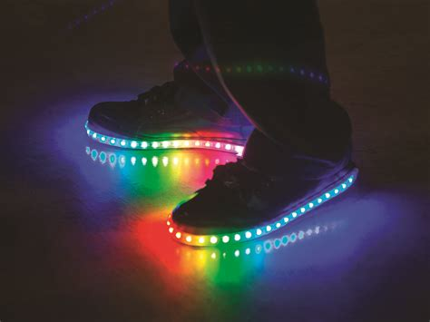 led light up shoes in stores luminous lowtops make