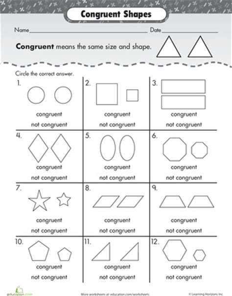 1000+ Images About 1st Grade Congruent Shapes On Pinterest  Free Items, Starry Nights And Math
