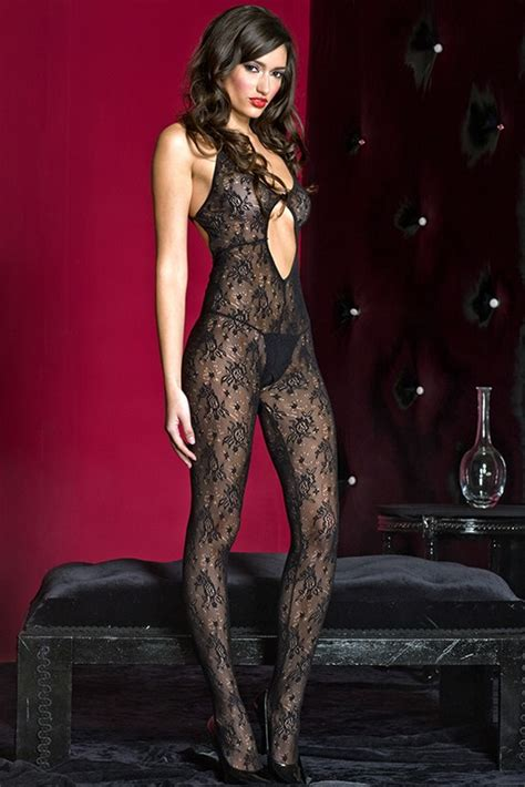 lace bodystocking  strappy