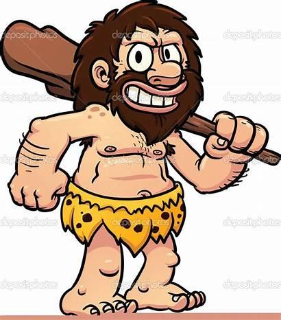 Caveman Cartoon Zaman Prasejarah Clipart Sejarah Sekolah