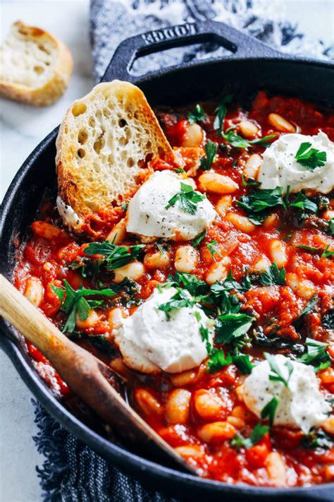 vegan shakshuka bean pot recipes vegetarian recipe eat runny meal dinner easy food lunch healthy weeknight wfpb quick whole suffice