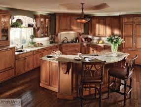 kraftmaid kitchen island kraftmaid cherry cabinetry in burnished traditional kitchen by kraftmaid