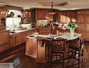 KraftMaid: Cherry Cabinetry in Burnished Ginger