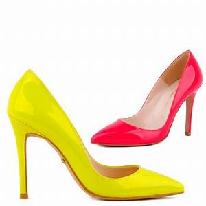 Small Size Bright Colour Stunning Leather Patent Heels