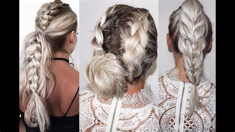 easy braid hair tutorials long hair leichte